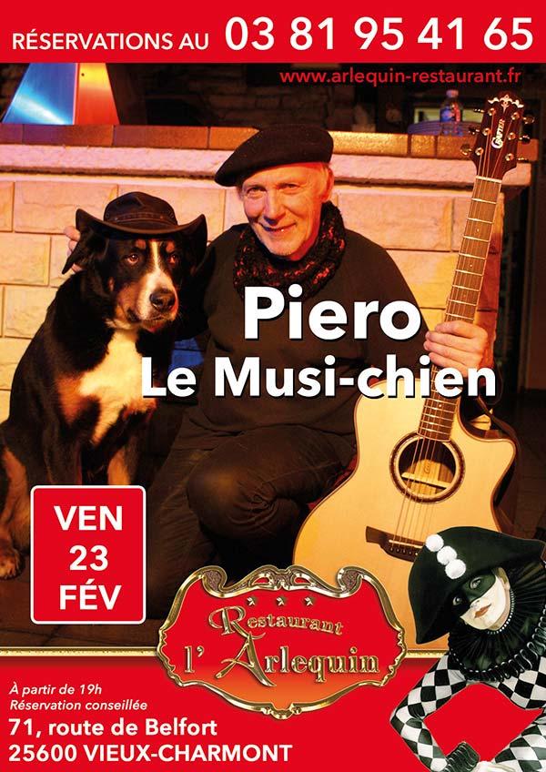 Affiche soirée Piero le Musichien du 23 février