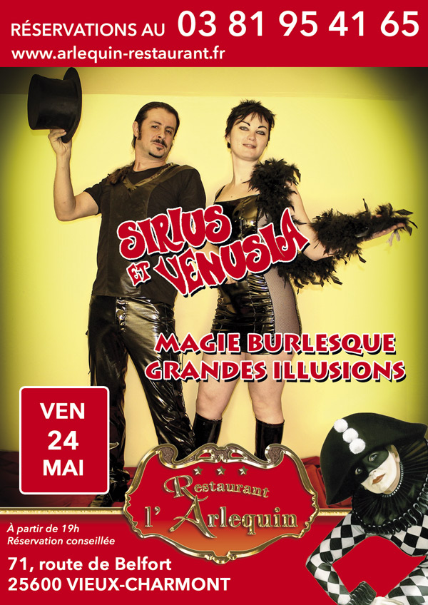 Sirius et Vénusi a: magie burlesque