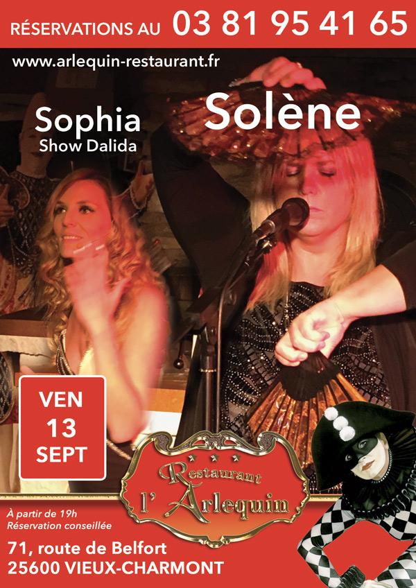 Solène et Sophia aux Vendredis de l'Arlequin le 13 septembre