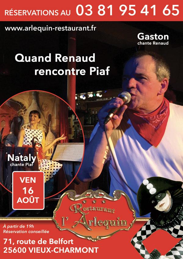 Gaston et Nataly aux Vendredis de l'Arlequin le 16 août
