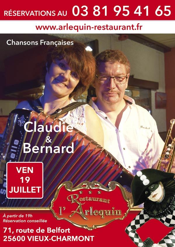 Claudie et Bernard le 19 juillet