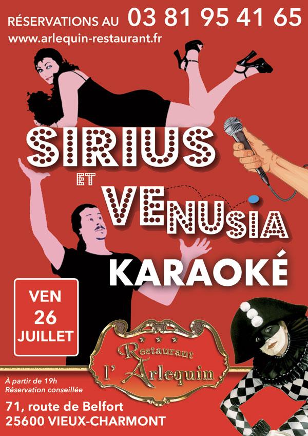 Karaoké avec Sirius et Venusia le 26 juillet