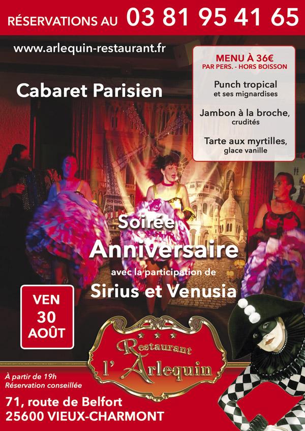 Soirée anniversaire 2019 avec Cabaret Parisien