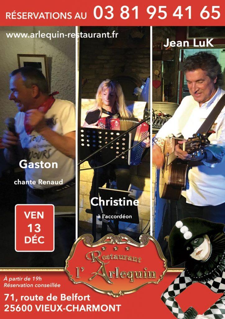 Jean Luk, Gaston et Christine à l'accordéon
