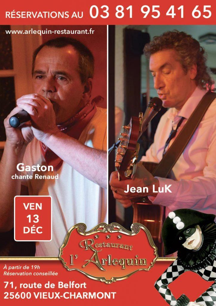 Jean Luc Nougaret et Gaston chante Renaud le vendredi 13 décembre