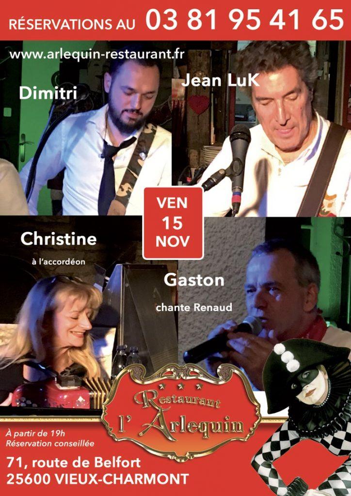 Jean Luk, Dimitri, Gaston et Christine à l'accordéon