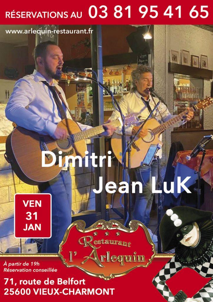 Jean Luc Nougaret et Dimitri en Concert le 31 janvier